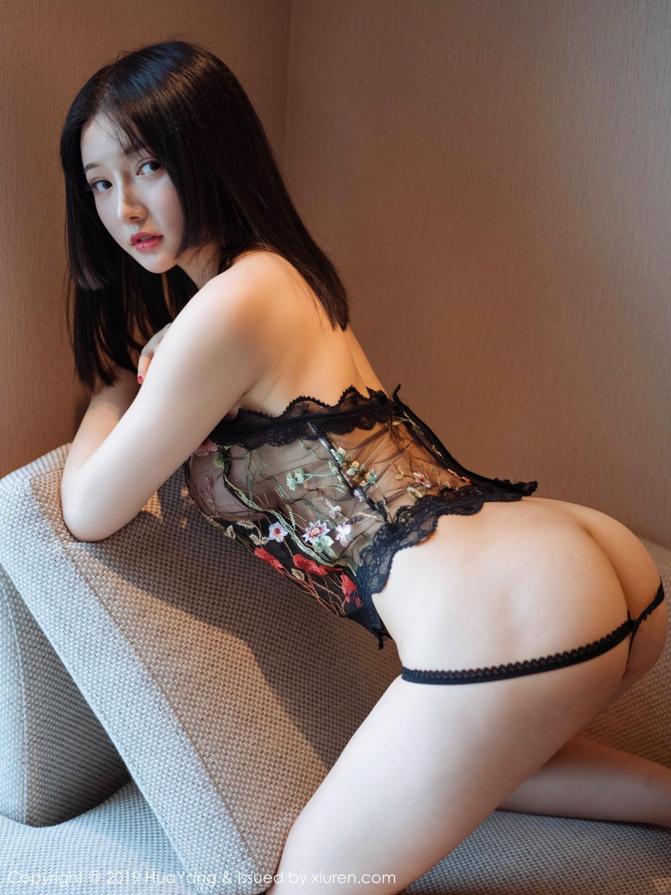 [Huayang] Vol.117 Tang Wan Er 9P, Adult, Black Silk, HuaYang, Sexy, Tang Wan Er