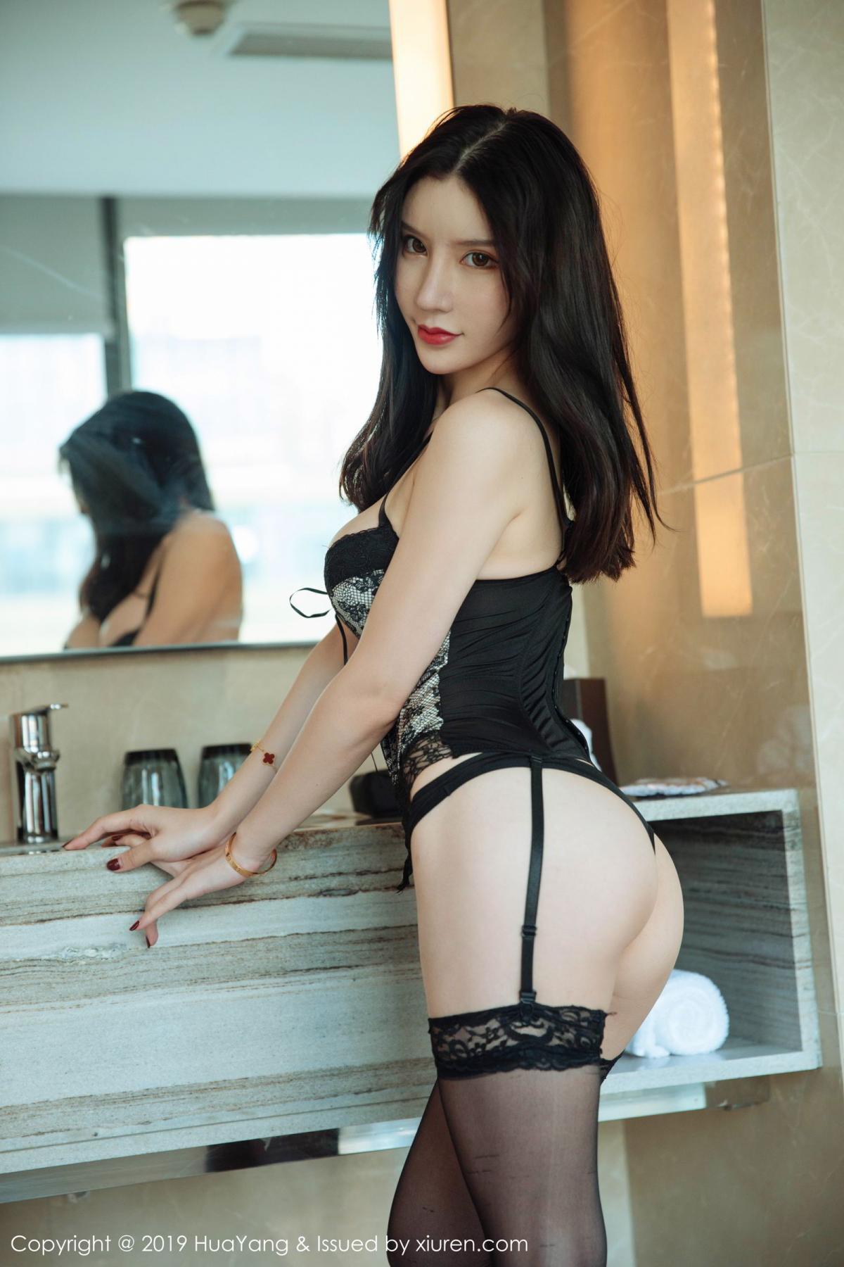 [Huayang] Vol.127 Zhou Yu Xi 32P, Black Silk, HuaYang, Tall, Underwear, Zhou Yu Xi