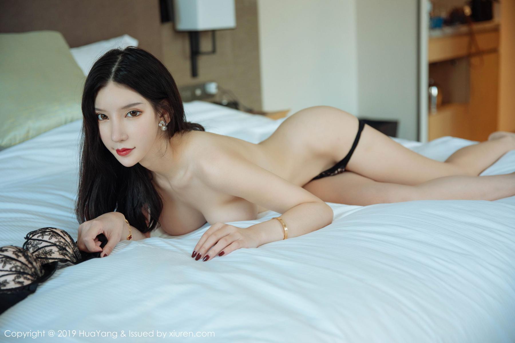 [Huayang] Vol.127 Zhou Yu Xi 5P, Black Silk, HuaYang, Tall, Underwear, Zhou Yu Xi