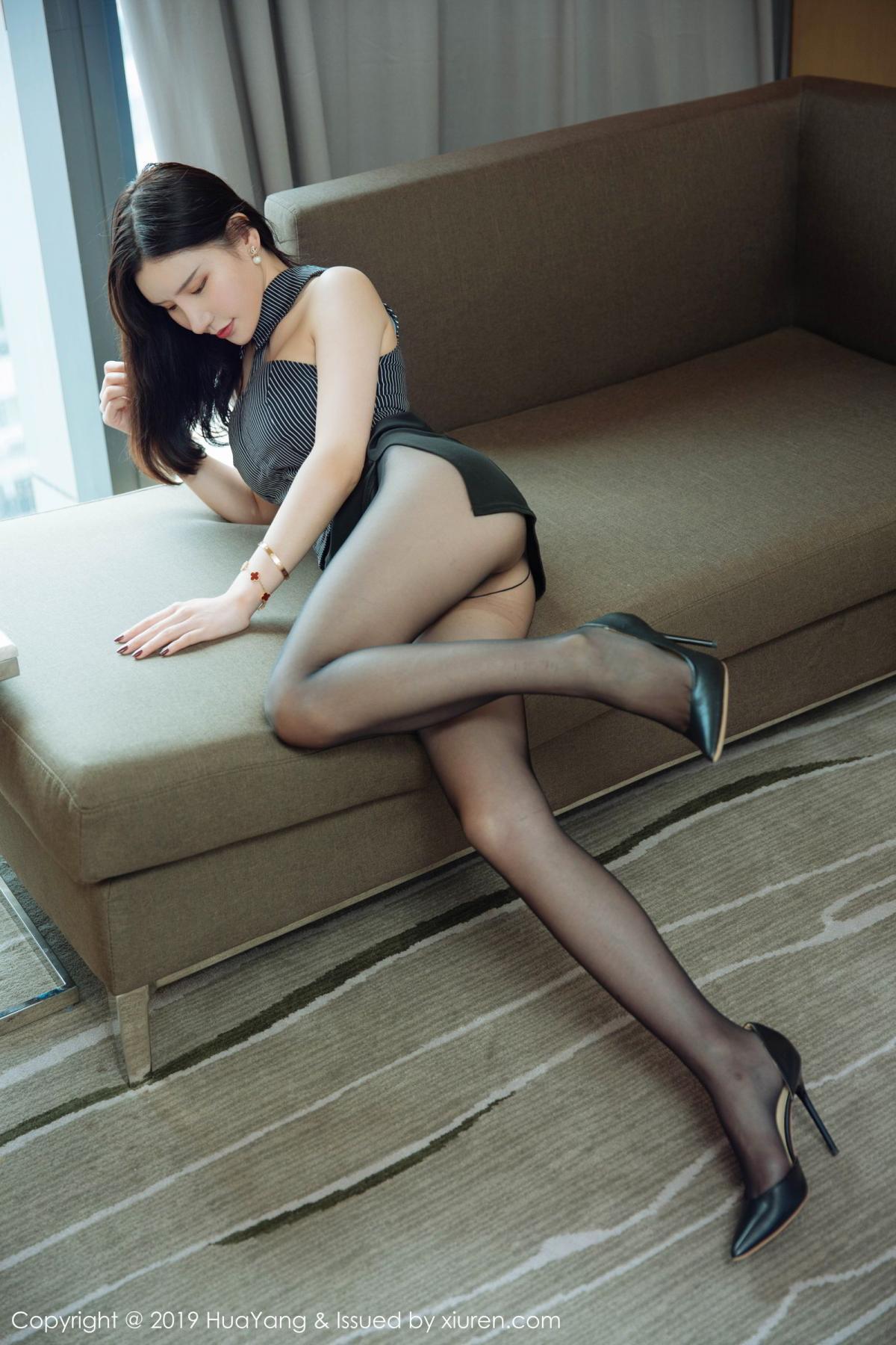 [Huayang] Vol.127 Zhou Yu Xi 9P, Black Silk, HuaYang, Tall, Underwear, Zhou Yu Xi