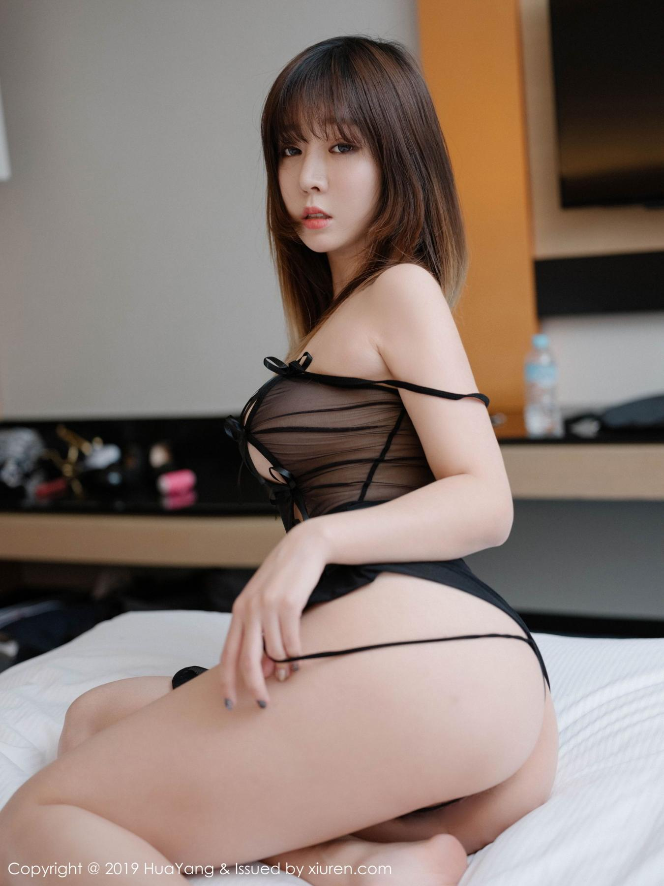 [Huayang] Vol.130 Wang Yu Chun 12P, Black Silk, HuaYang, Wang Yu Chun
