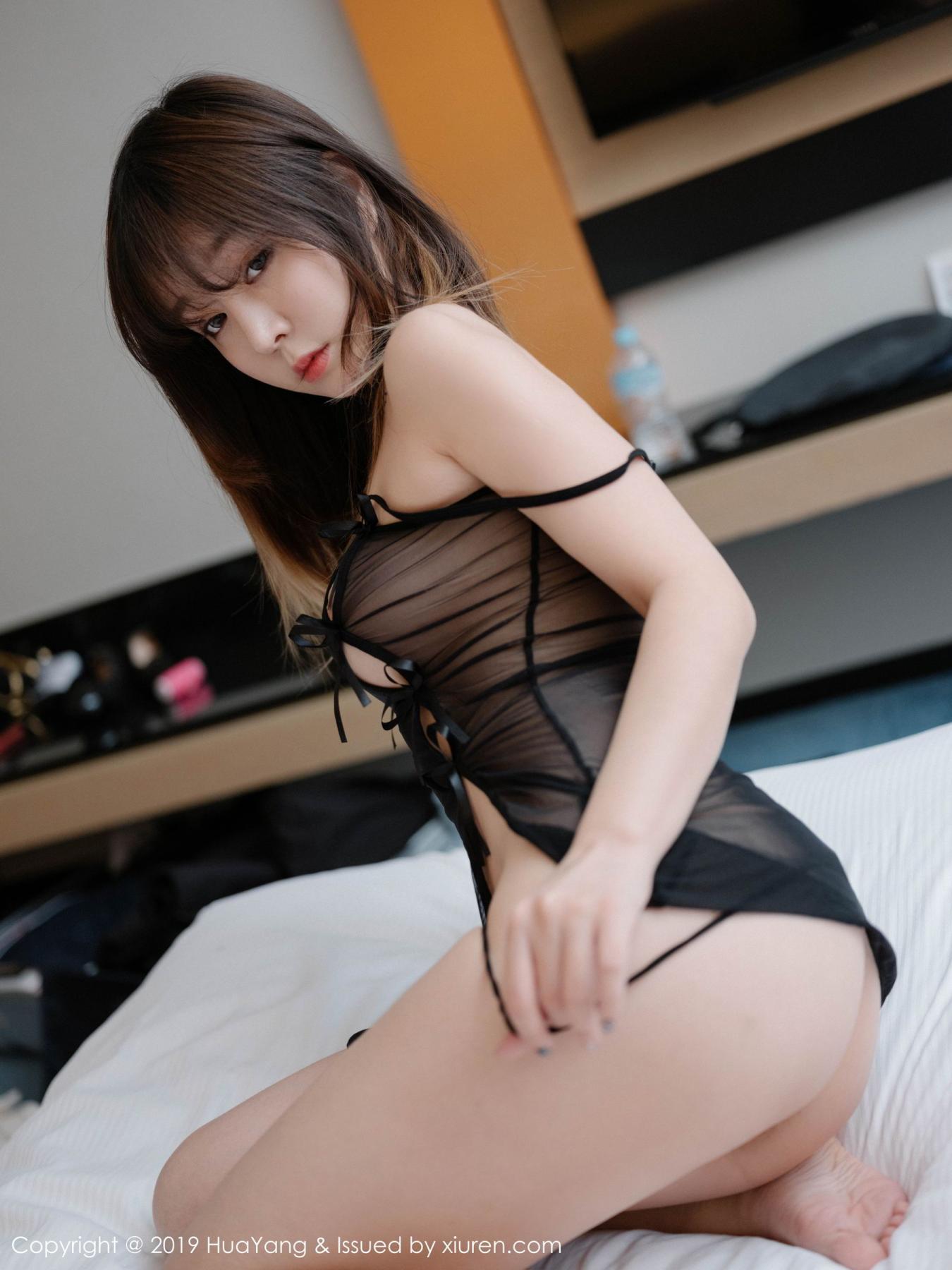 [Huayang] Vol.130 Wang Yu Chun 13P, Black Silk, HuaYang, Wang Yu Chun