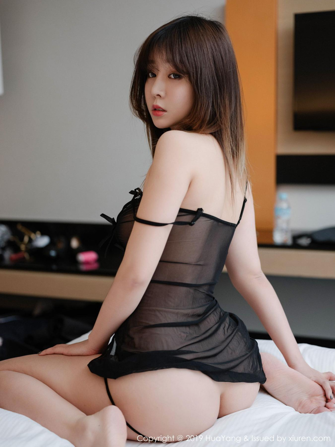 [Huayang] Vol.130 Wang Yu Chun 21P, Black Silk, HuaYang, Wang Yu Chun