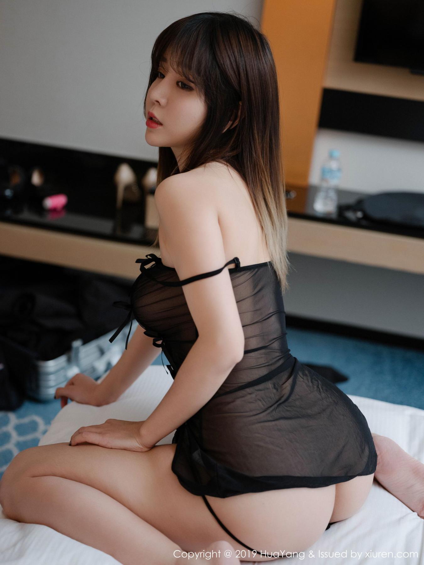 [Huayang] Vol.130 Wang Yu Chun 3P, Black Silk, HuaYang, Wang Yu Chun