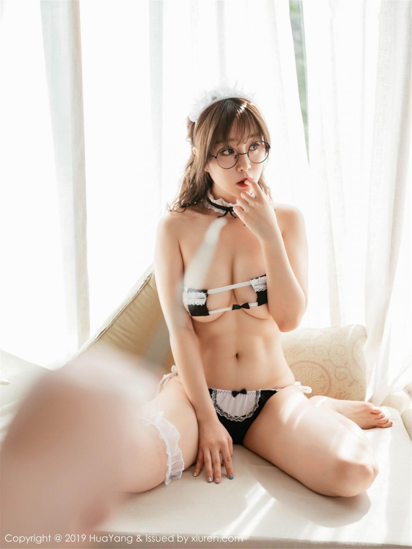 [Huayang] Vol.133 Wang Yu Chun 26P, HuaYang, Maid, Underwear, Wang Yu Chun