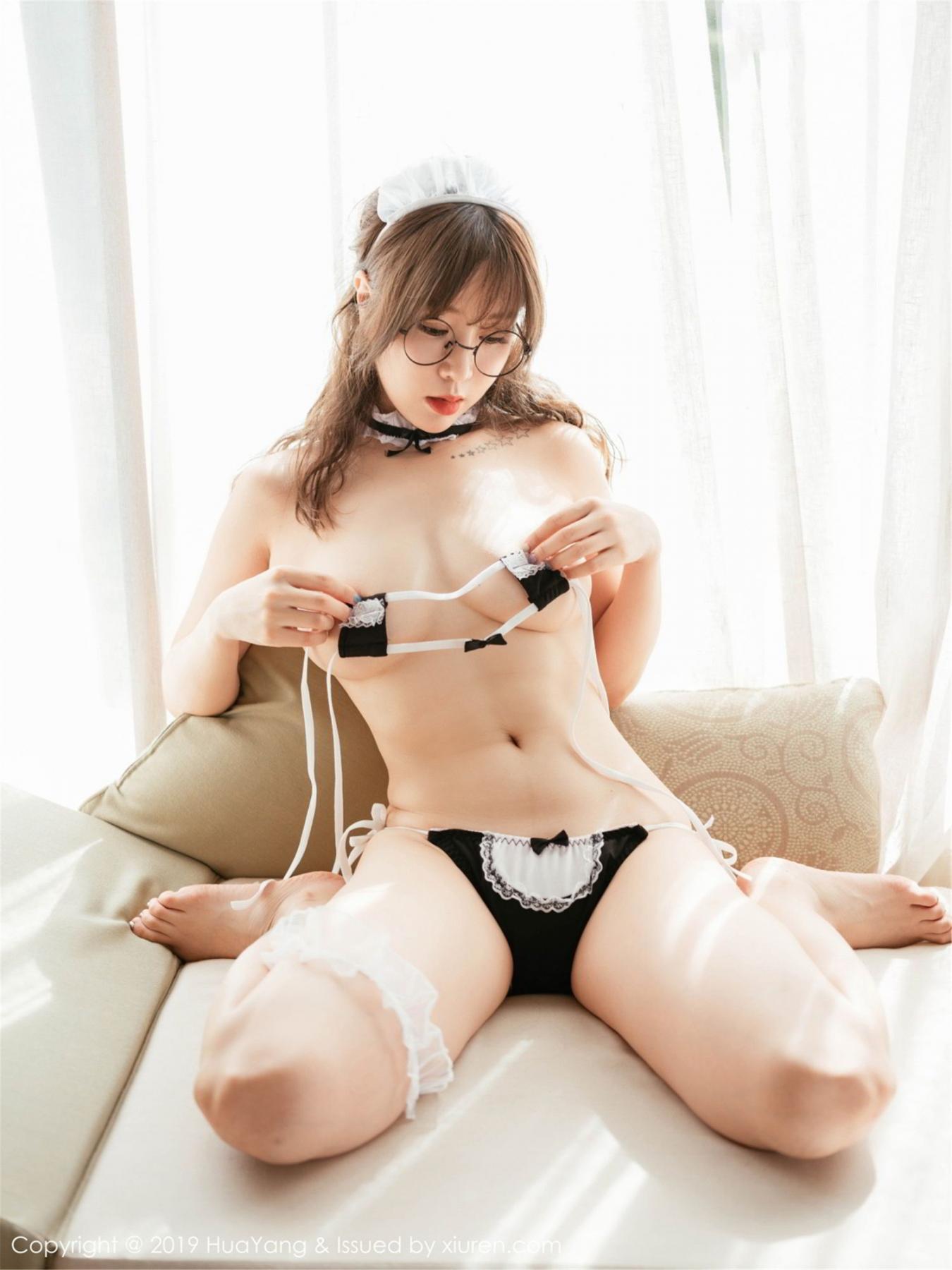 [Huayang] Vol.133 Wang Yu Chun 29P, HuaYang, Maid, Underwear, Wang Yu Chun