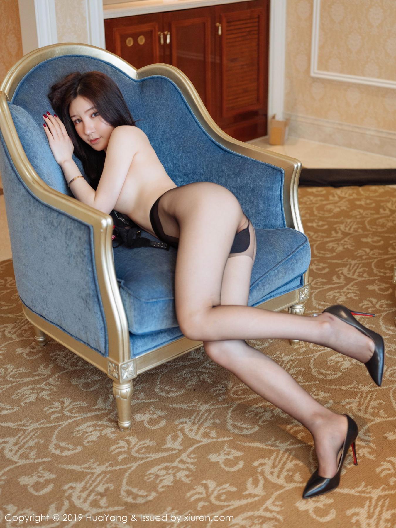 [Huayang] Vol.135 Zhou Yu Xi 12P, Black Silk, HuaYang, Underwear, Zhou Yu Xi