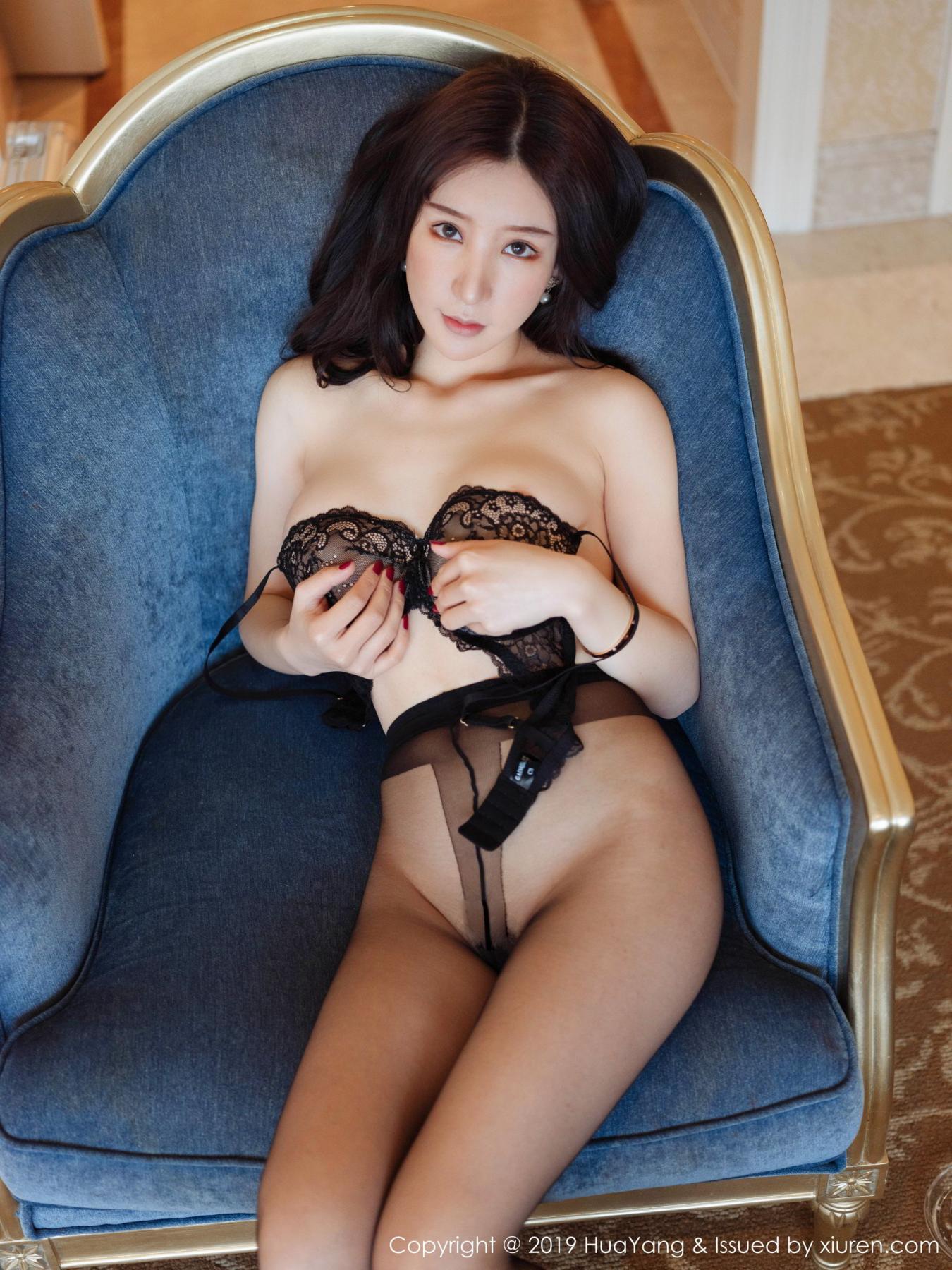 [Huayang] Vol.135 Zhou Yu Xi 6P, Black Silk, HuaYang, Underwear, Zhou Yu Xi