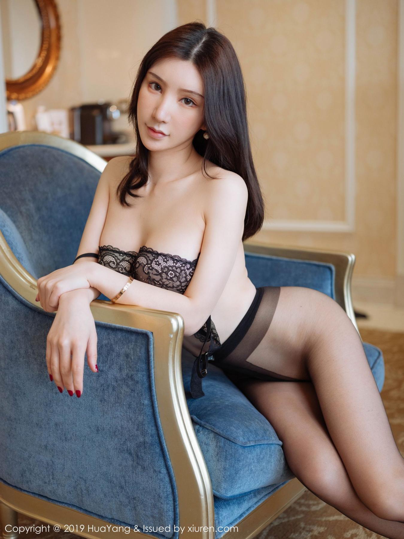 [Huayang] Vol.135 Zhou Yu Xi 9P, Black Silk, HuaYang, Underwear, Zhou Yu Xi