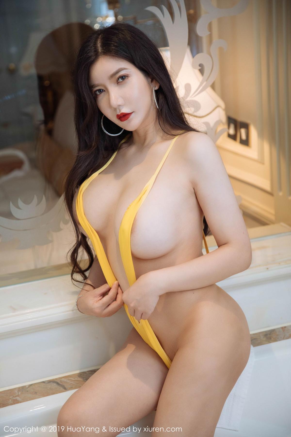 [Huayang] Vol.136 Li Yan Xi 10P, Bikini, Black Silk, HuaYang, Li Yan Xi