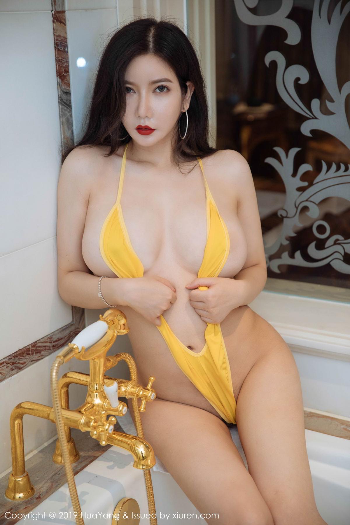 [Huayang] Vol.136 Li Yan Xi 17P, Bikini, Black Silk, HuaYang, Li Yan Xi