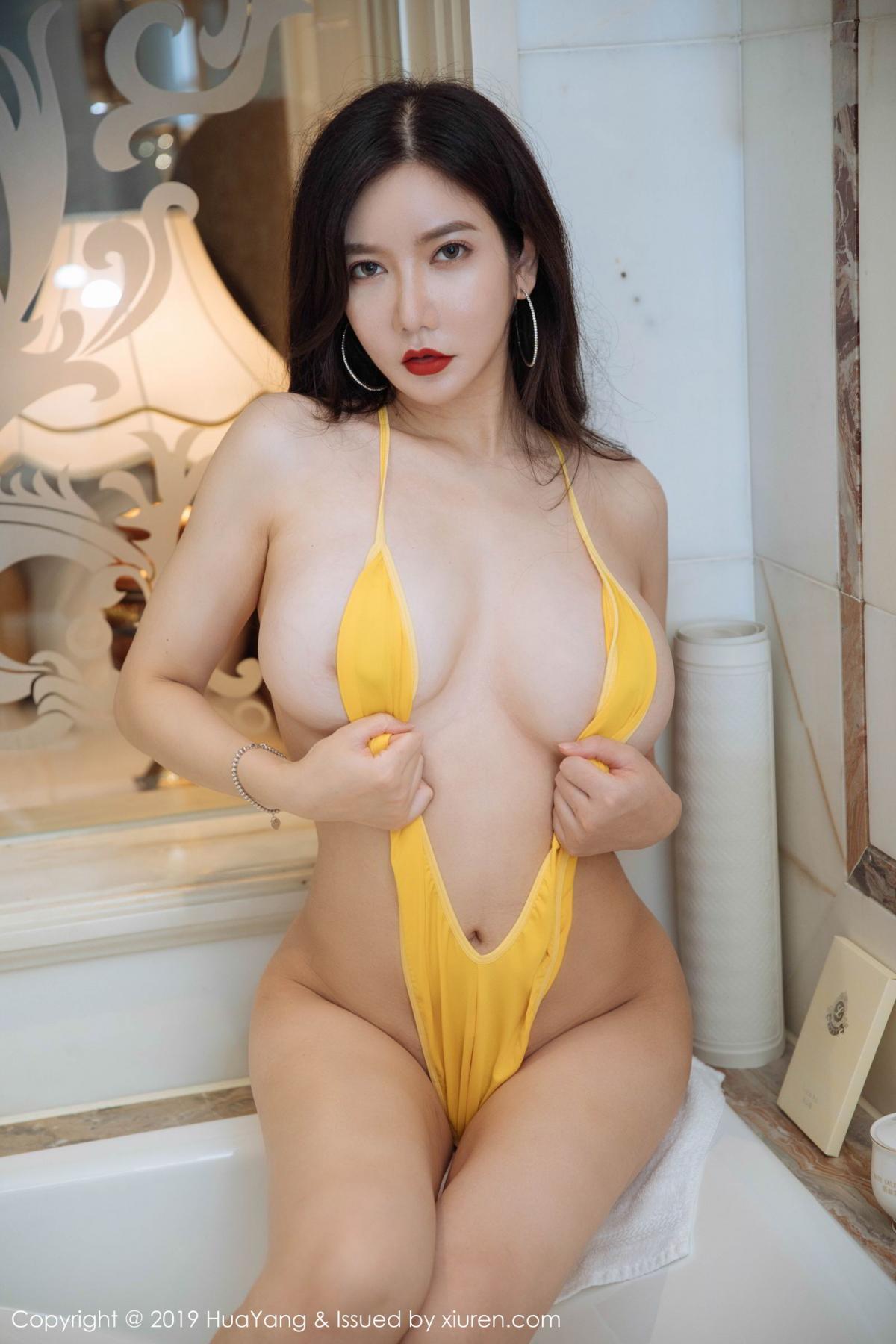 [Huayang] Vol.136 Li Yan Xi 18P, Bikini, Black Silk, HuaYang, Li Yan Xi