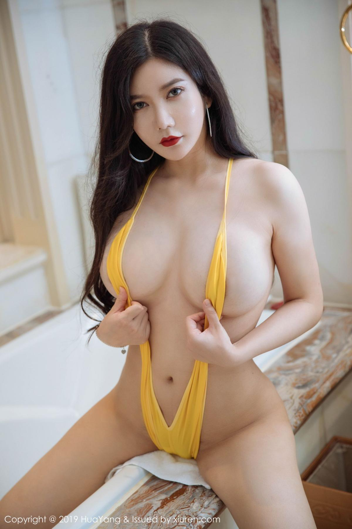 [Huayang] Vol.136 Li Yan Xi 19P, Bikini, Black Silk, HuaYang, Li Yan Xi