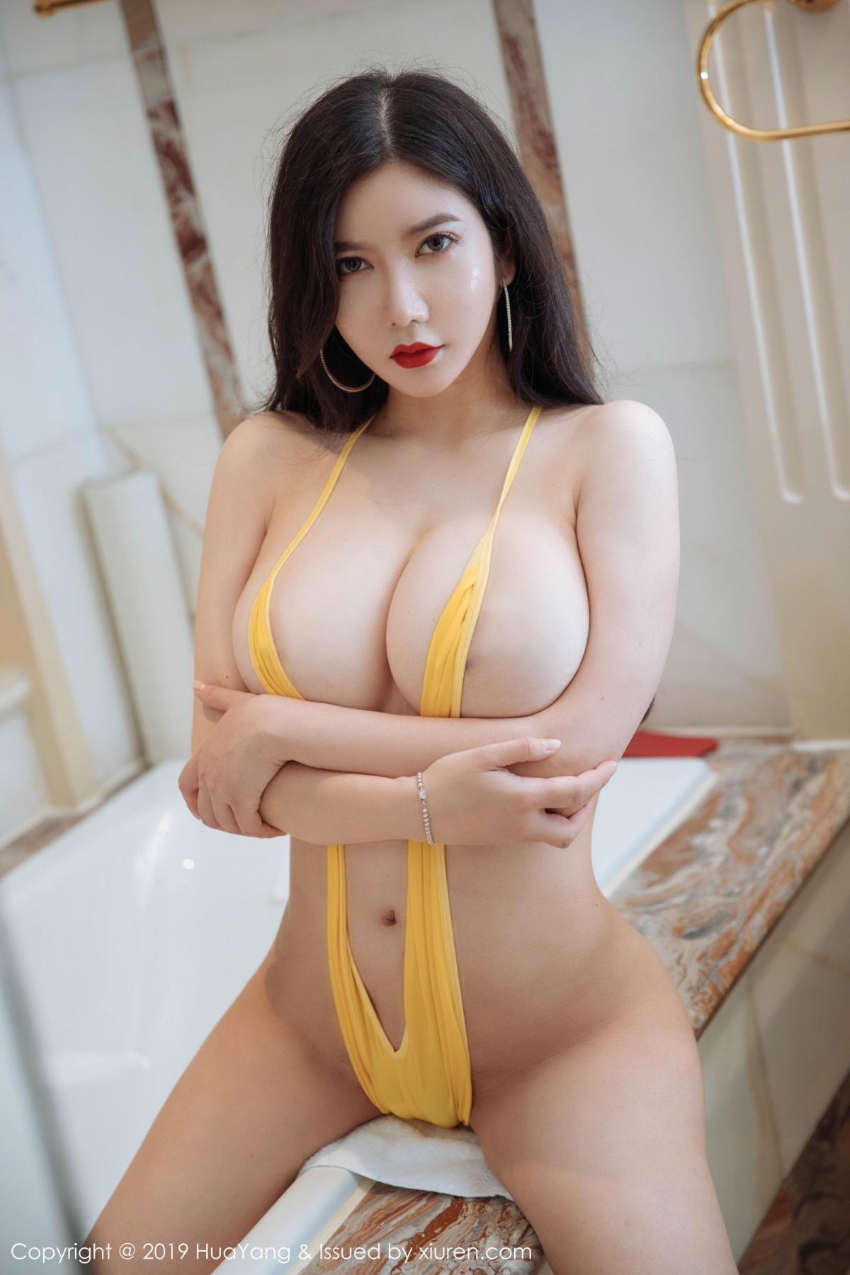 [Huayang] Vol.136 Li Yan Xi 1P, Bikini, Black Silk, HuaYang, Li Yan Xi