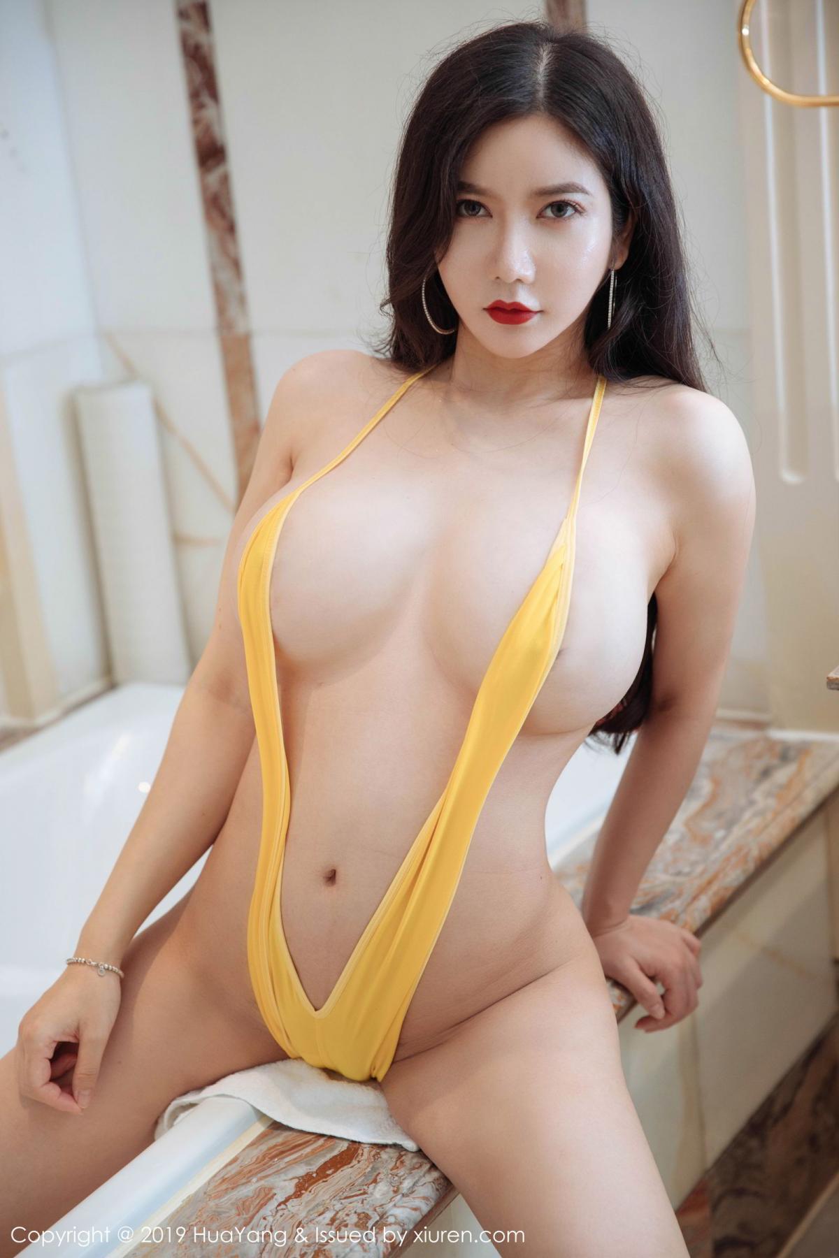 [Huayang] Vol.136 Li Yan Xi 21P, Bikini, Black Silk, HuaYang, Li Yan Xi
