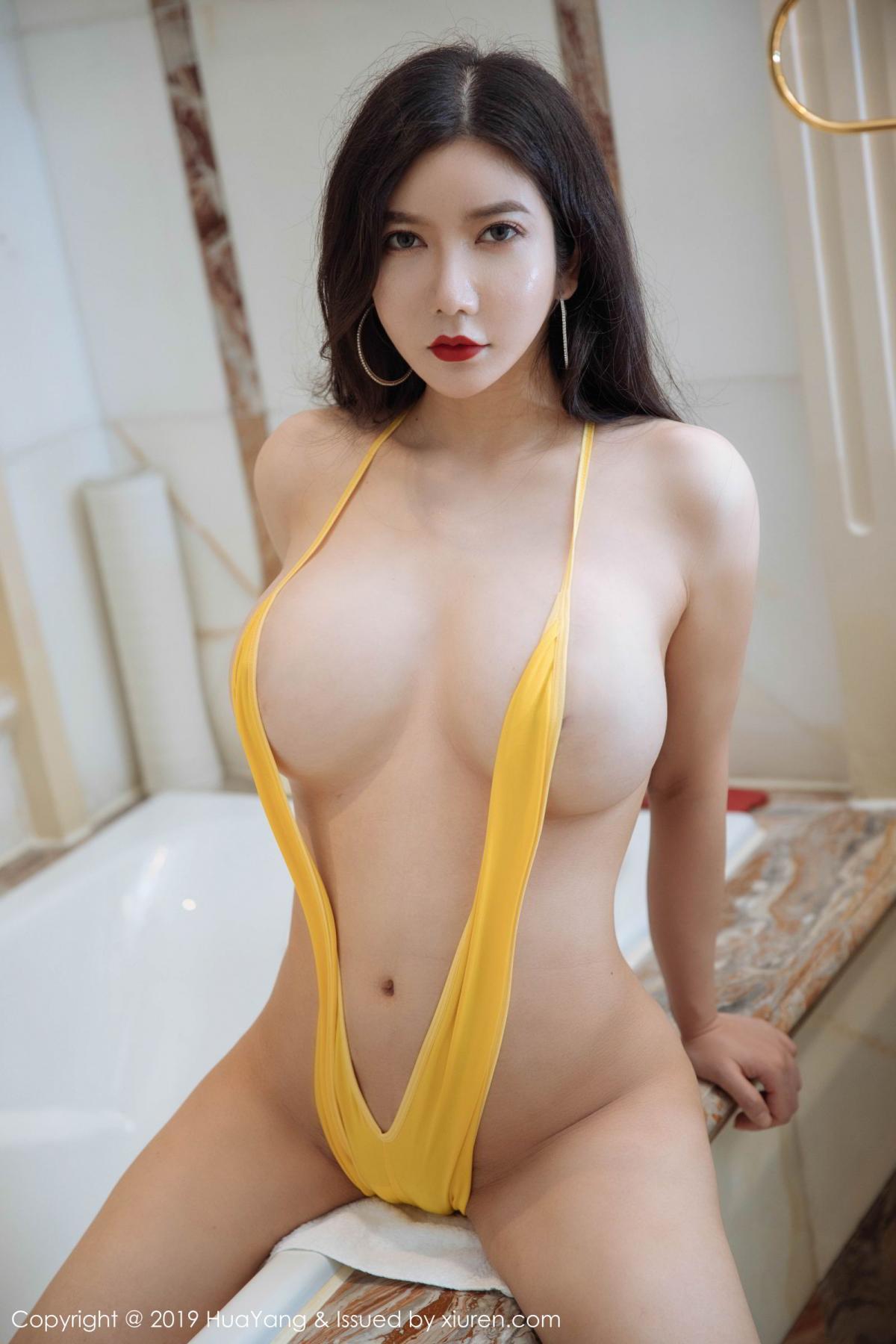 [Huayang] Vol.136 Li Yan Xi 22P, Bikini, Black Silk, HuaYang, Li Yan Xi