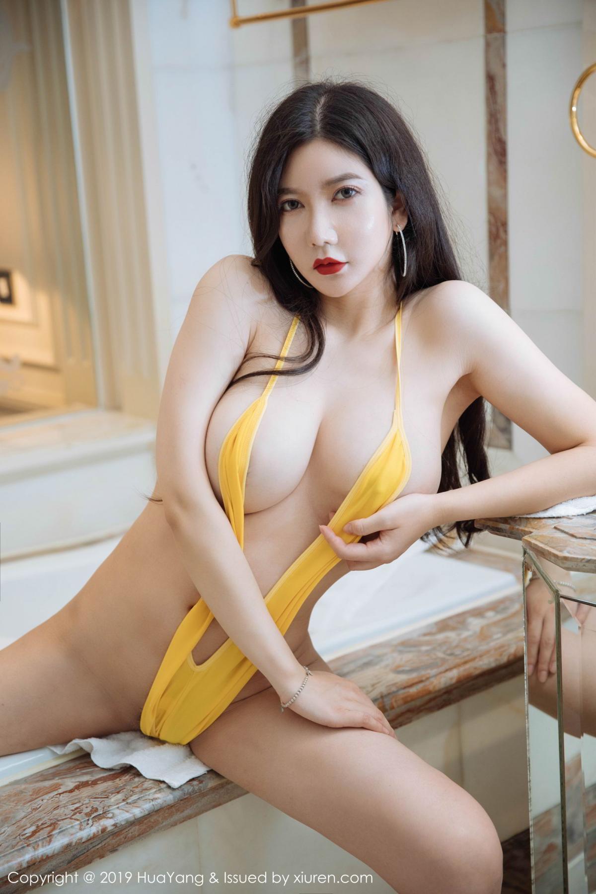 [Huayang] Vol.136 Li Yan Xi 24P, Bikini, Black Silk, HuaYang, Li Yan Xi