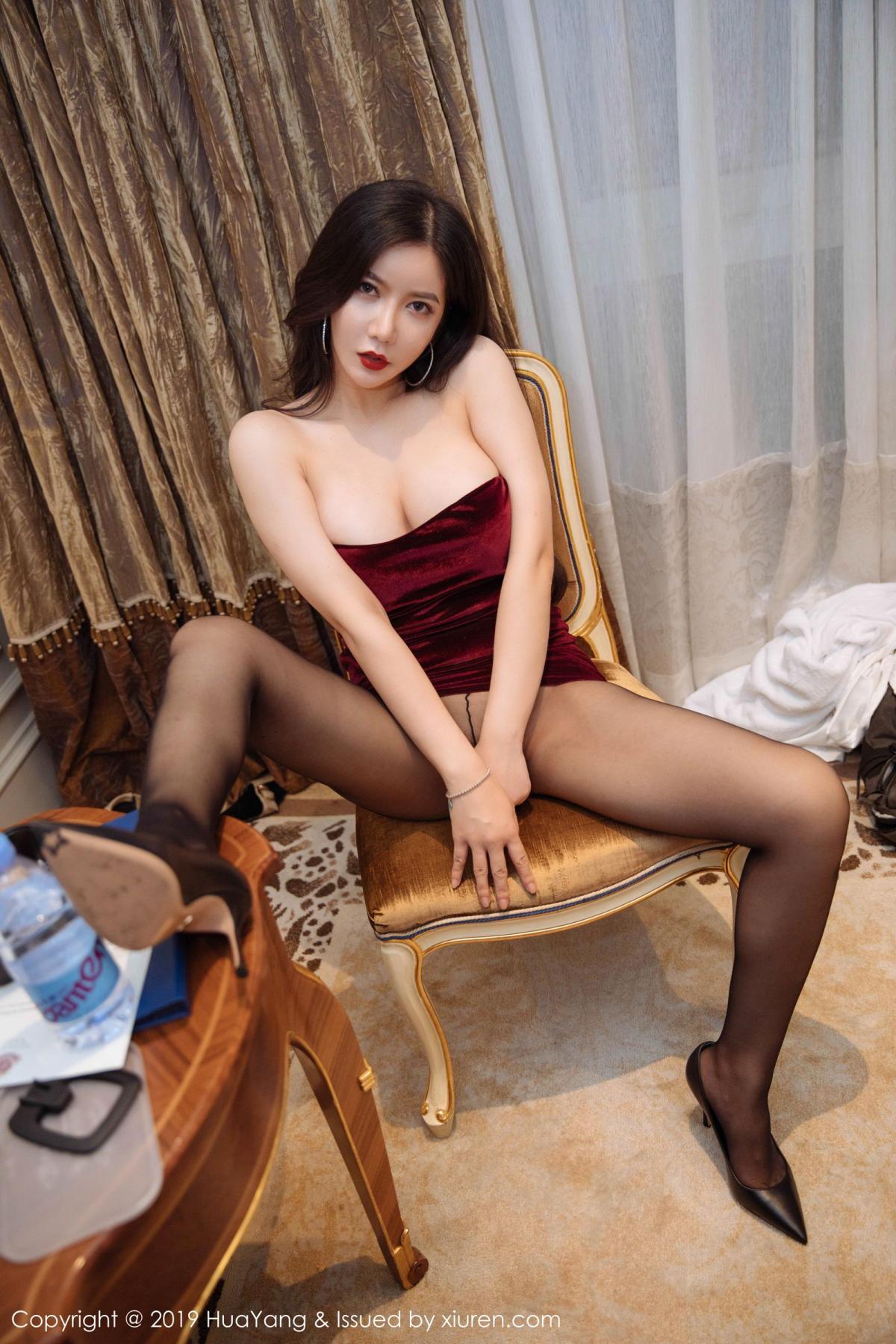 [Huayang] Vol.136 Li Yan Xi 28P, Bikini, Black Silk, HuaYang, Li Yan Xi