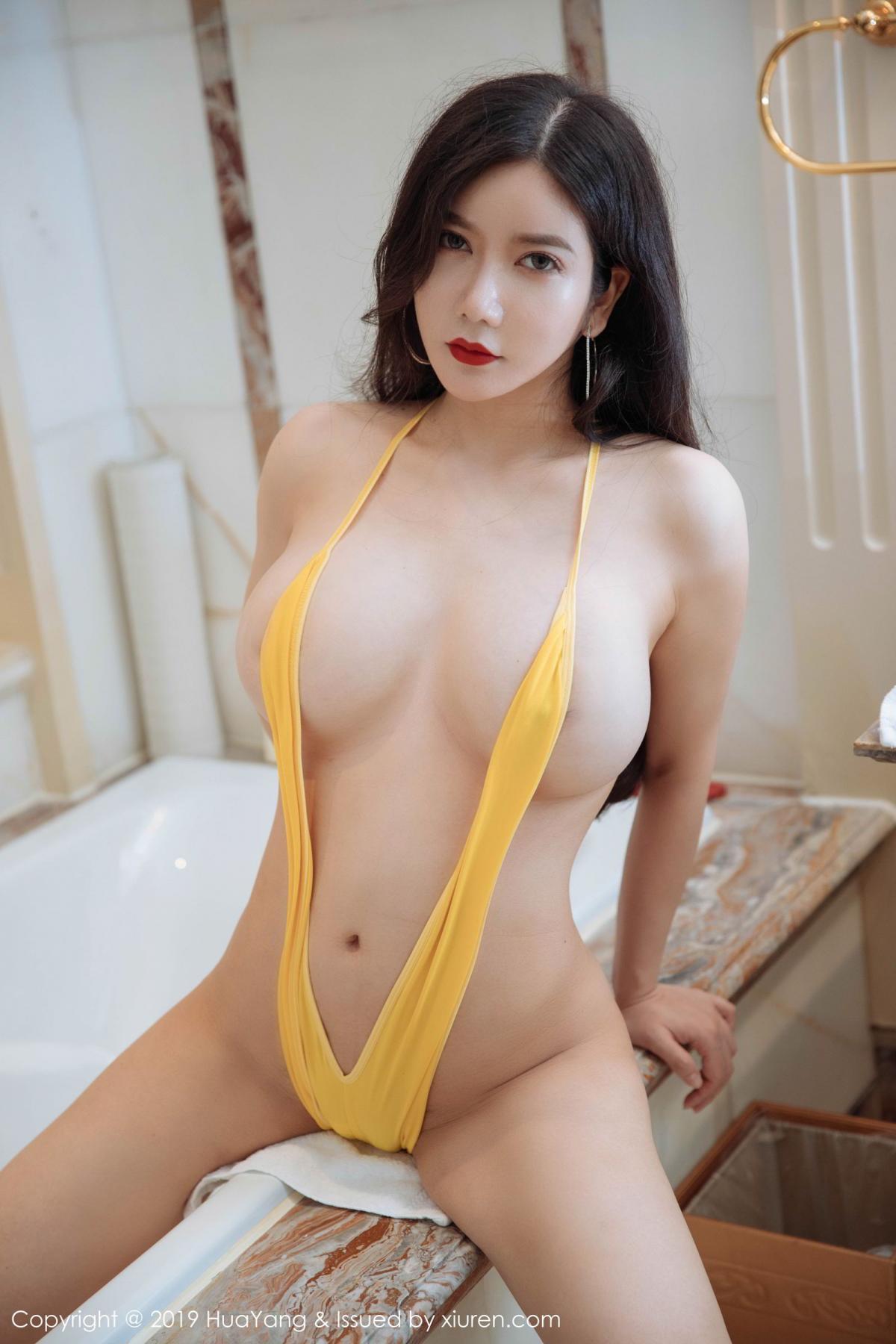 [Huayang] Vol.136 Li Yan Xi 2P, Bikini, Black Silk, HuaYang, Li Yan Xi