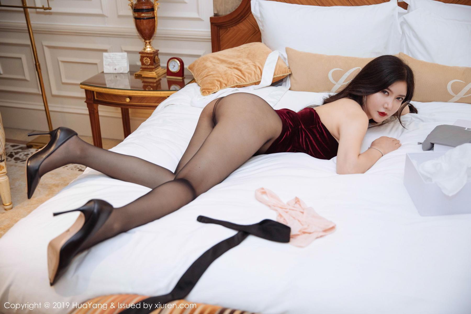 [Huayang] Vol.136 Li Yan Xi 33P, Bikini, Black Silk, HuaYang, Li Yan Xi