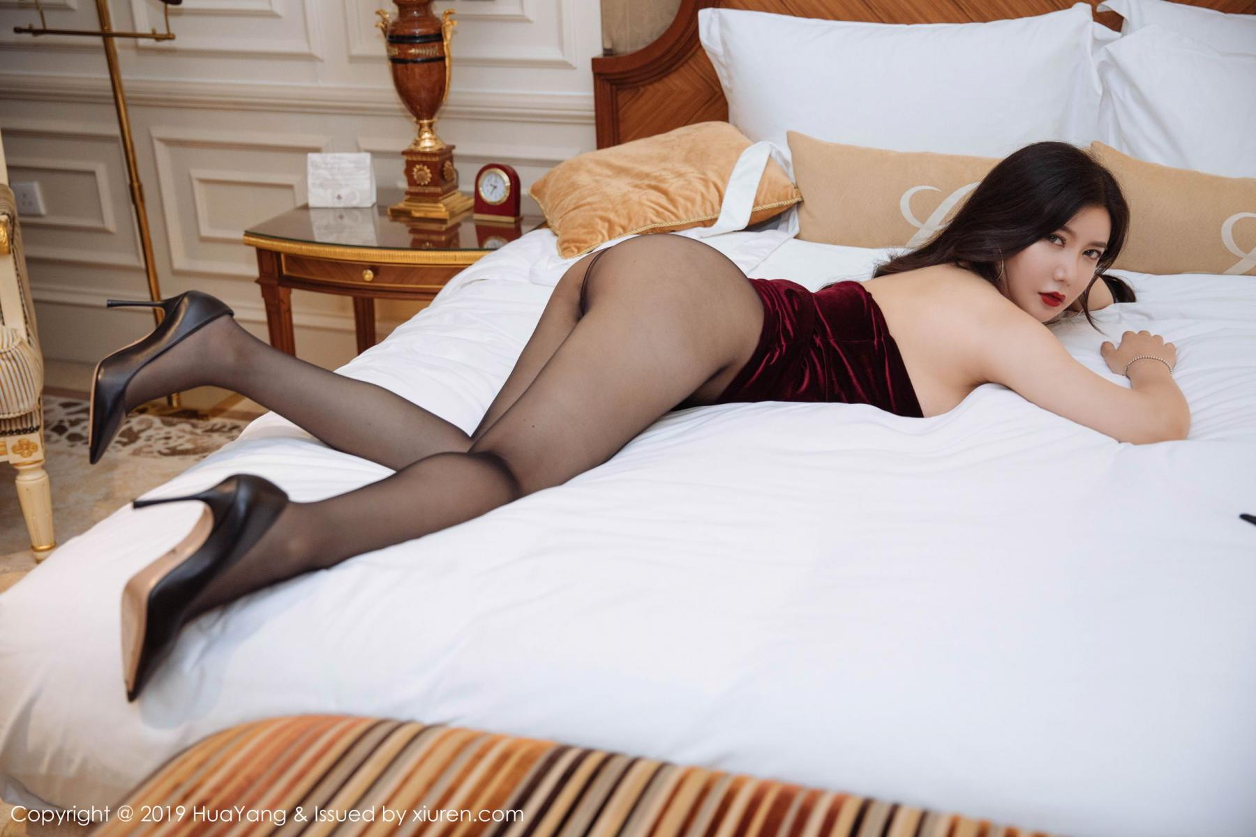 [Huayang] Vol.136 Li Yan Xi 34P, Bikini, Black Silk, HuaYang, Li Yan Xi