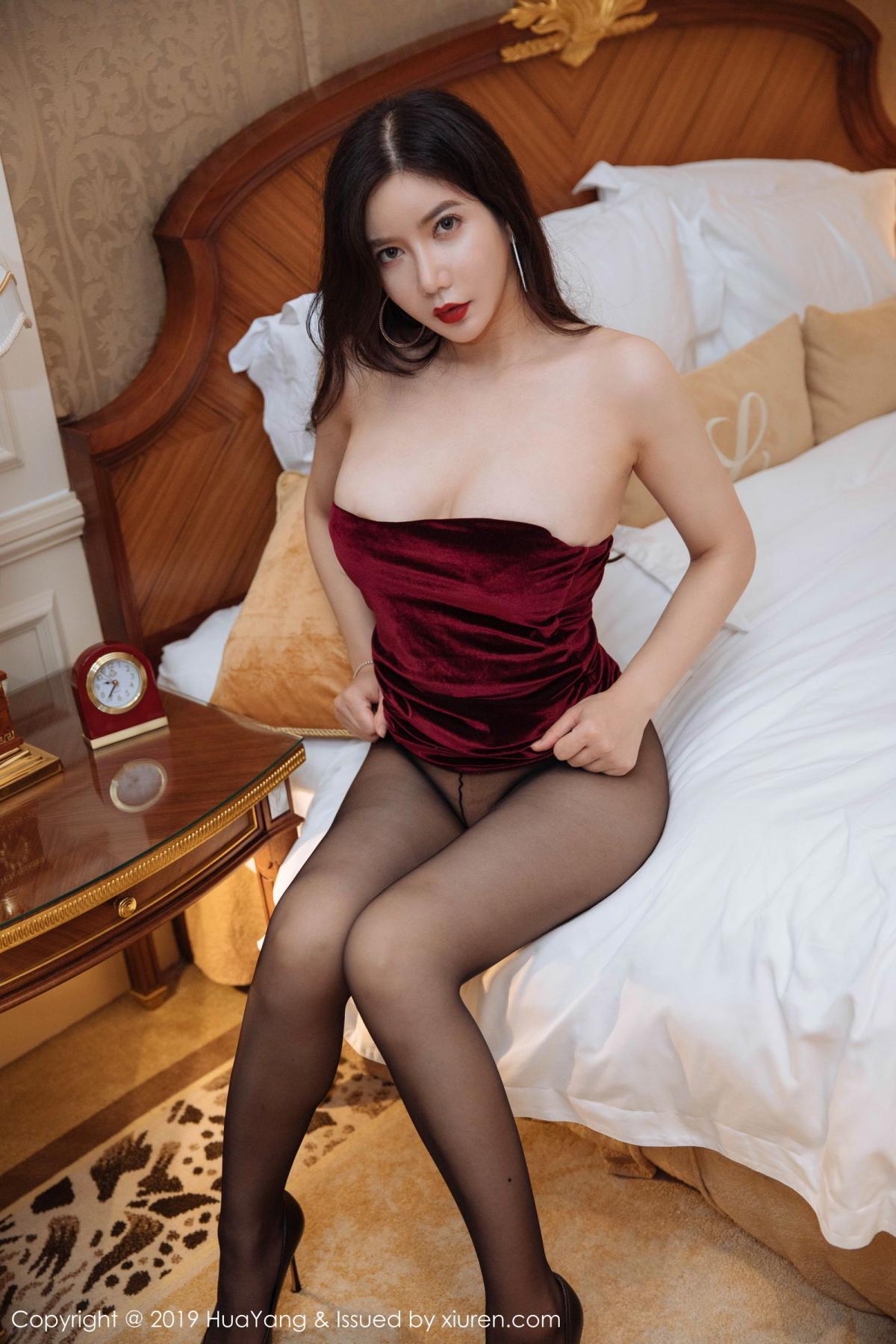 [Huayang] Vol.136 Li Yan Xi 35P, Bikini, Black Silk, HuaYang, Li Yan Xi