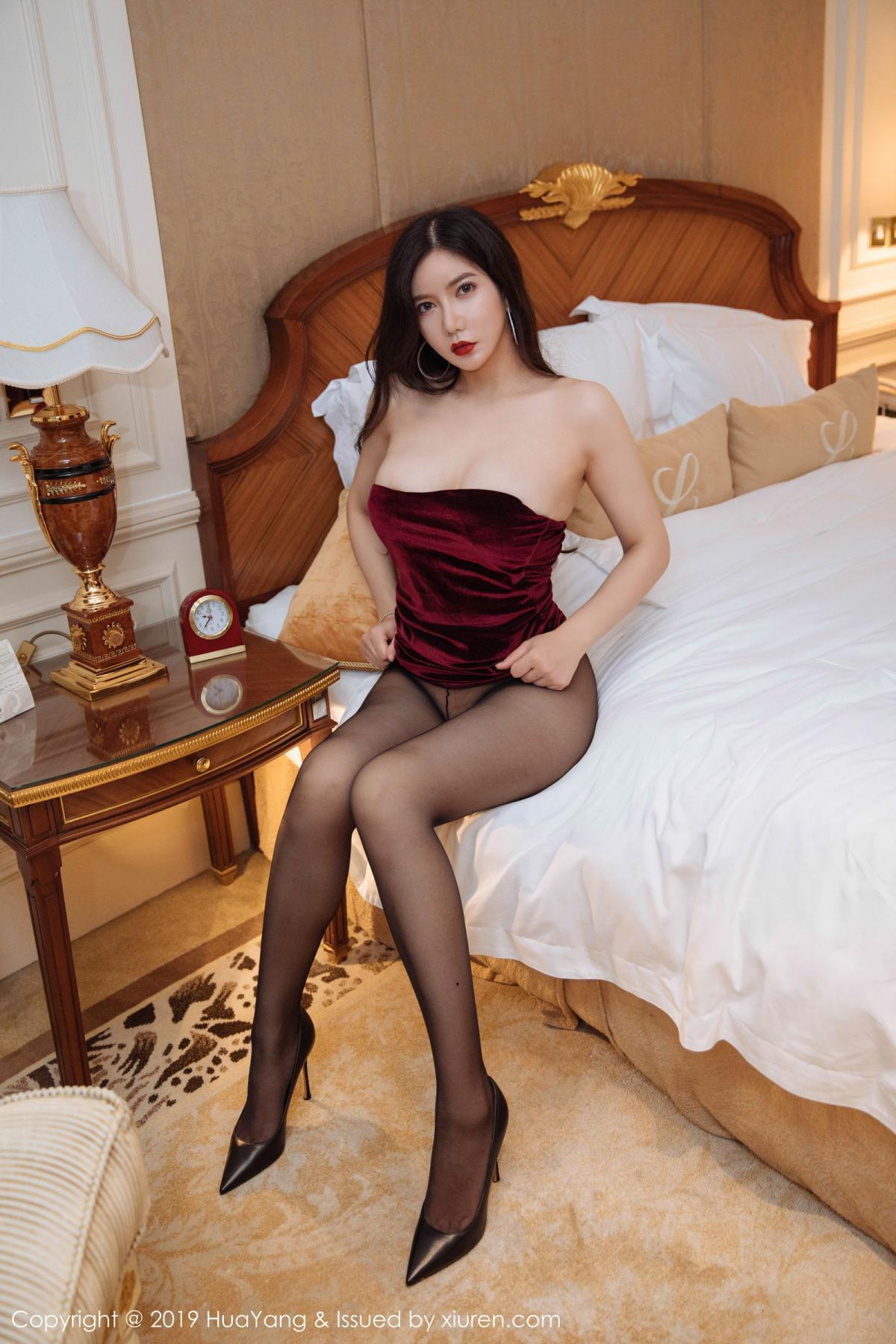 [Huayang] Vol.136 Li Yan Xi 36P, Bikini, Black Silk, HuaYang, Li Yan Xi