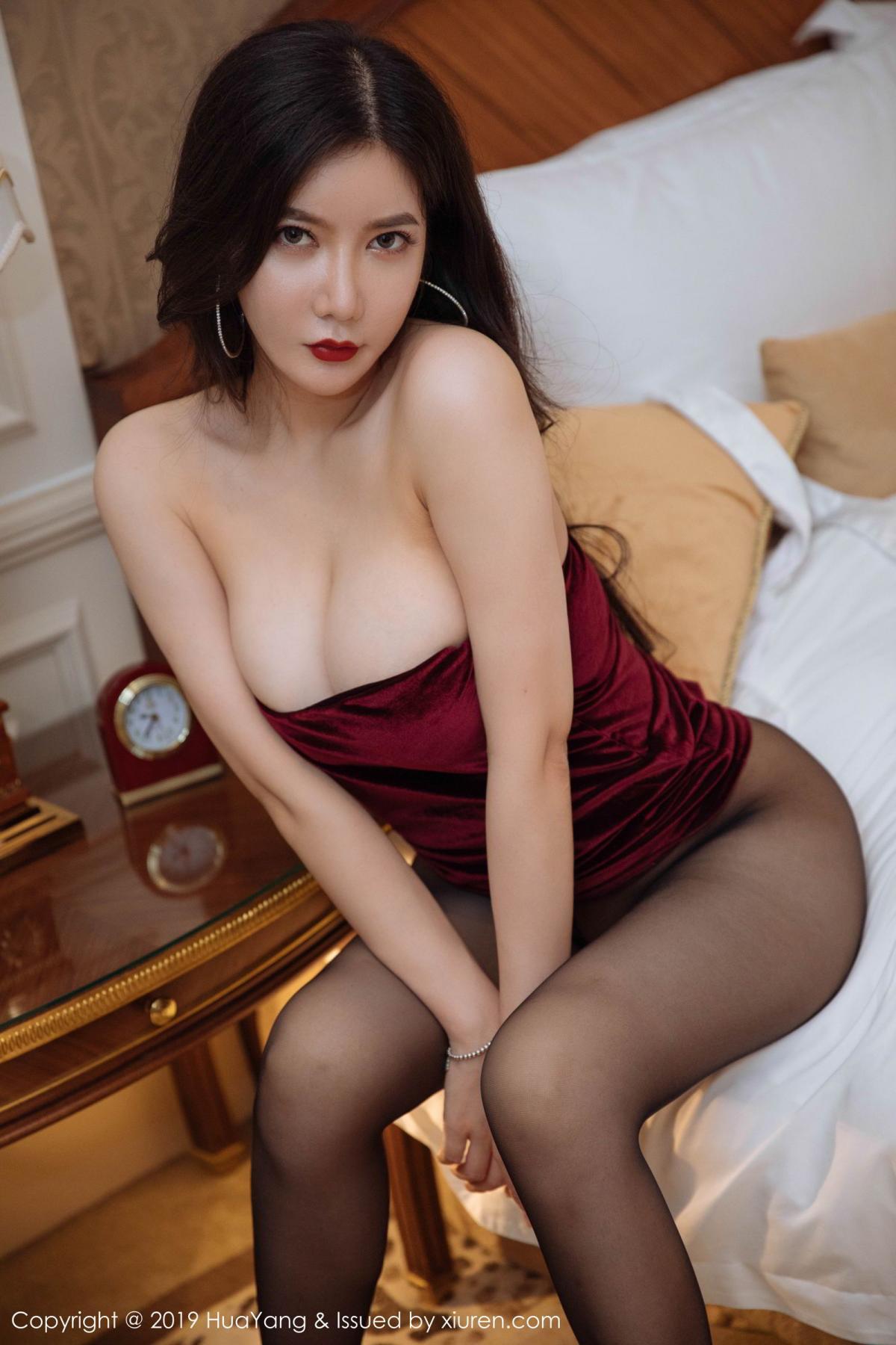 [Huayang] Vol.136 Li Yan Xi 38P, Bikini, Black Silk, HuaYang, Li Yan Xi