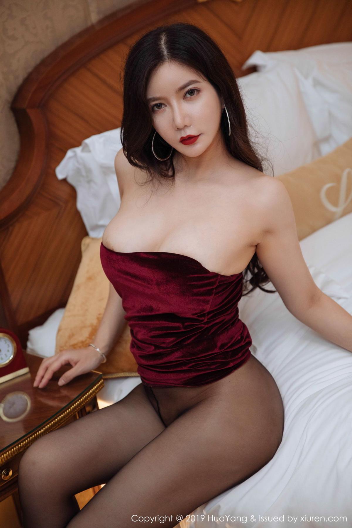 [Huayang] Vol.136 Li Yan Xi 39P, Bikini, Black Silk, HuaYang, Li Yan Xi