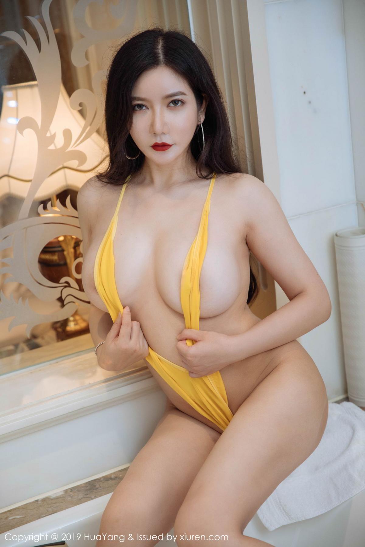 [Huayang] Vol.136 Li Yan Xi 3P, Bikini, Black Silk, HuaYang, Li Yan Xi