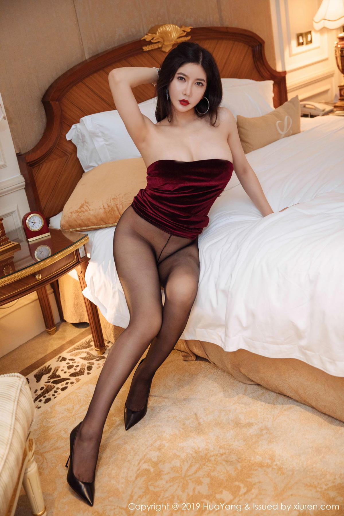 [Huayang] Vol.136 Li Yan Xi 41P, Bikini, Black Silk, HuaYang, Li Yan Xi