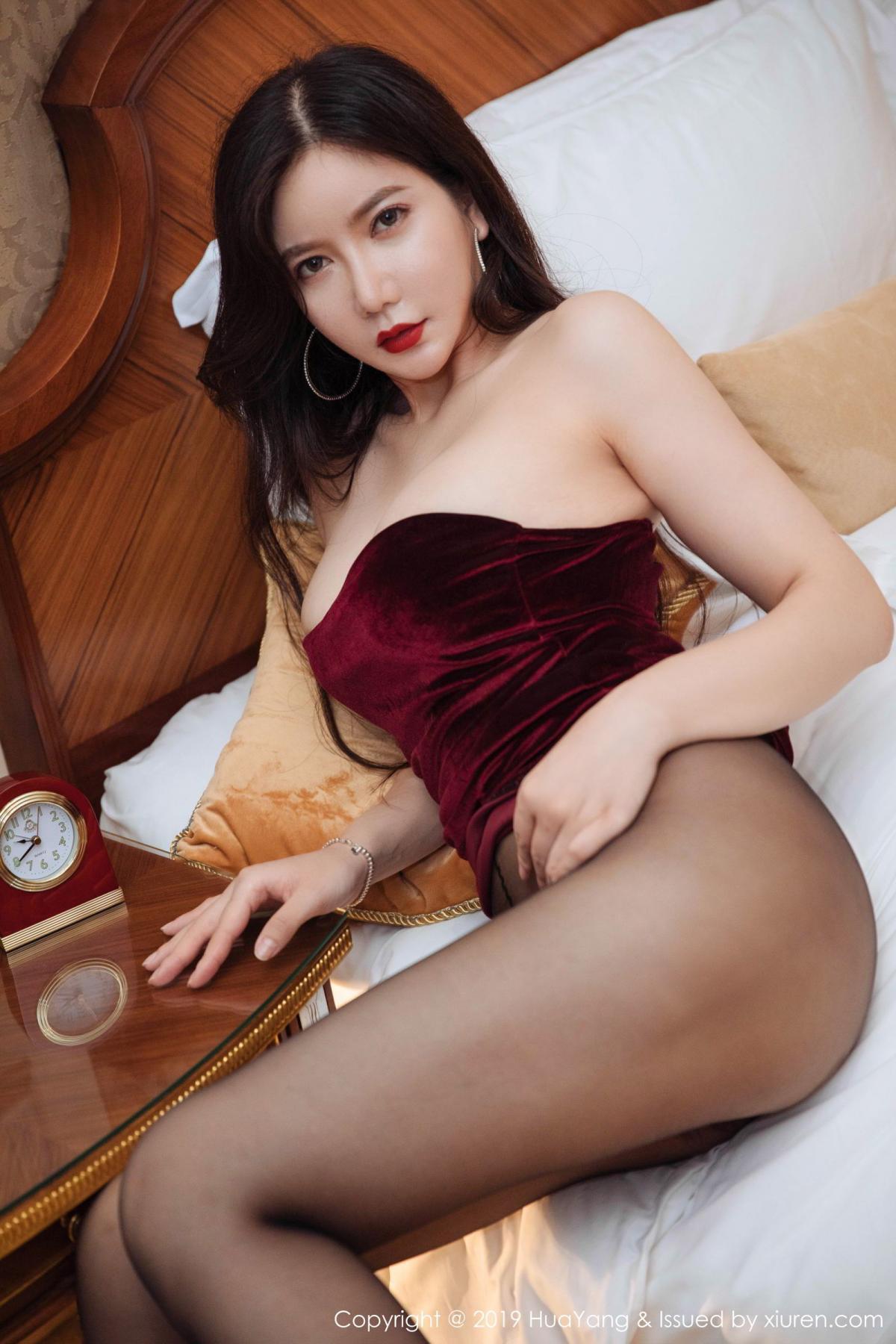 [Huayang] Vol.136 Li Yan Xi 45P, Bikini, Black Silk, HuaYang, Li Yan Xi
