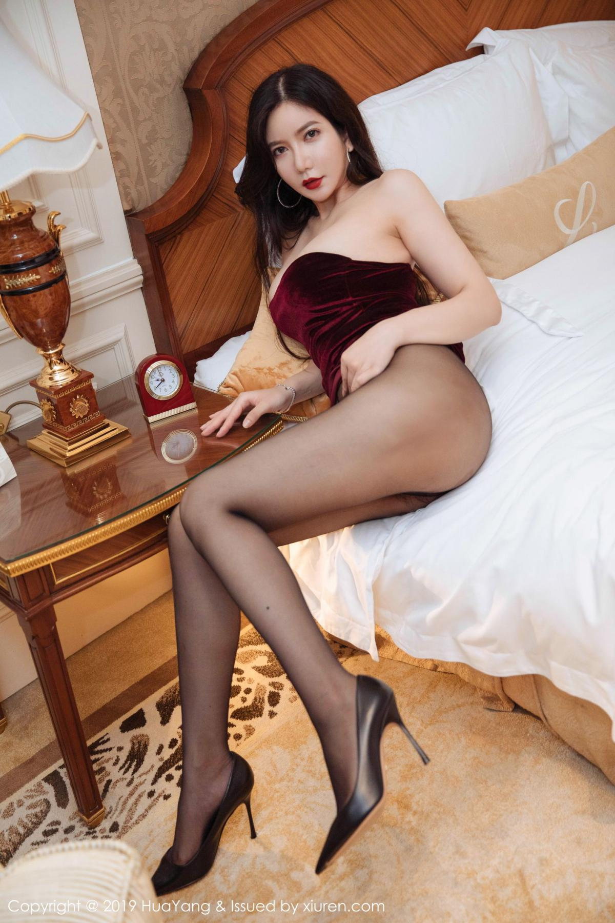 [Huayang] Vol.136 Li Yan Xi 4P, Bikini, Black Silk, HuaYang, Li Yan Xi