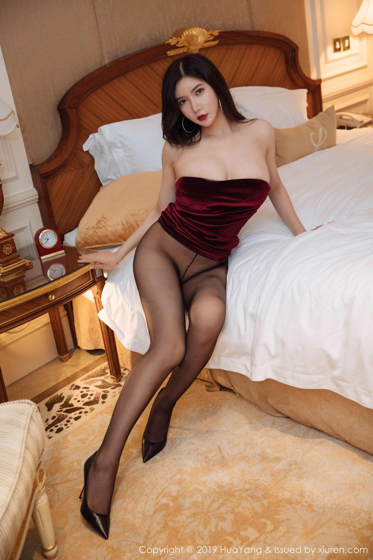 [Huayang] Vol.136 Li Yan Xi 5P, Bikini, Black Silk, HuaYang, Li Yan Xi