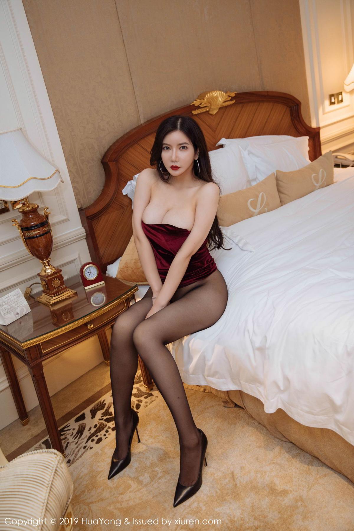[Huayang] Vol.136 Li Yan Xi 6P, Bikini, Black Silk, HuaYang, Li Yan Xi