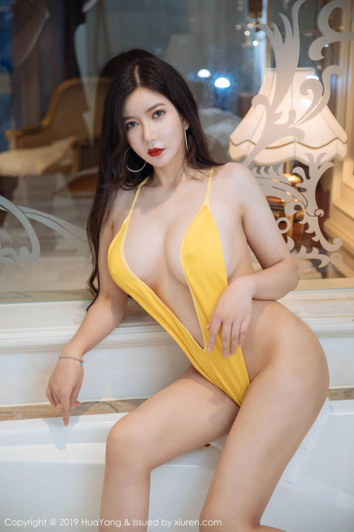 [Huayang] Vol.136 Li Yan Xi 7P, Bikini, Black Silk, HuaYang, Li Yan Xi
