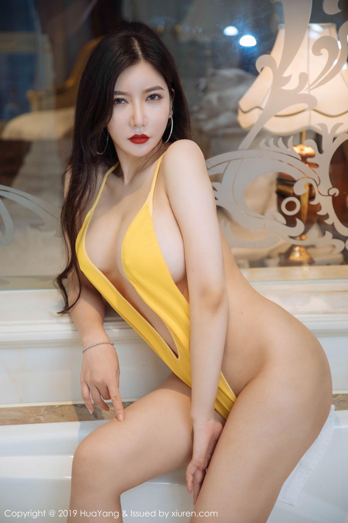 [Huayang] Vol.136 Li Yan Xi 8P, Bikini, Black Silk, HuaYang, Li Yan Xi