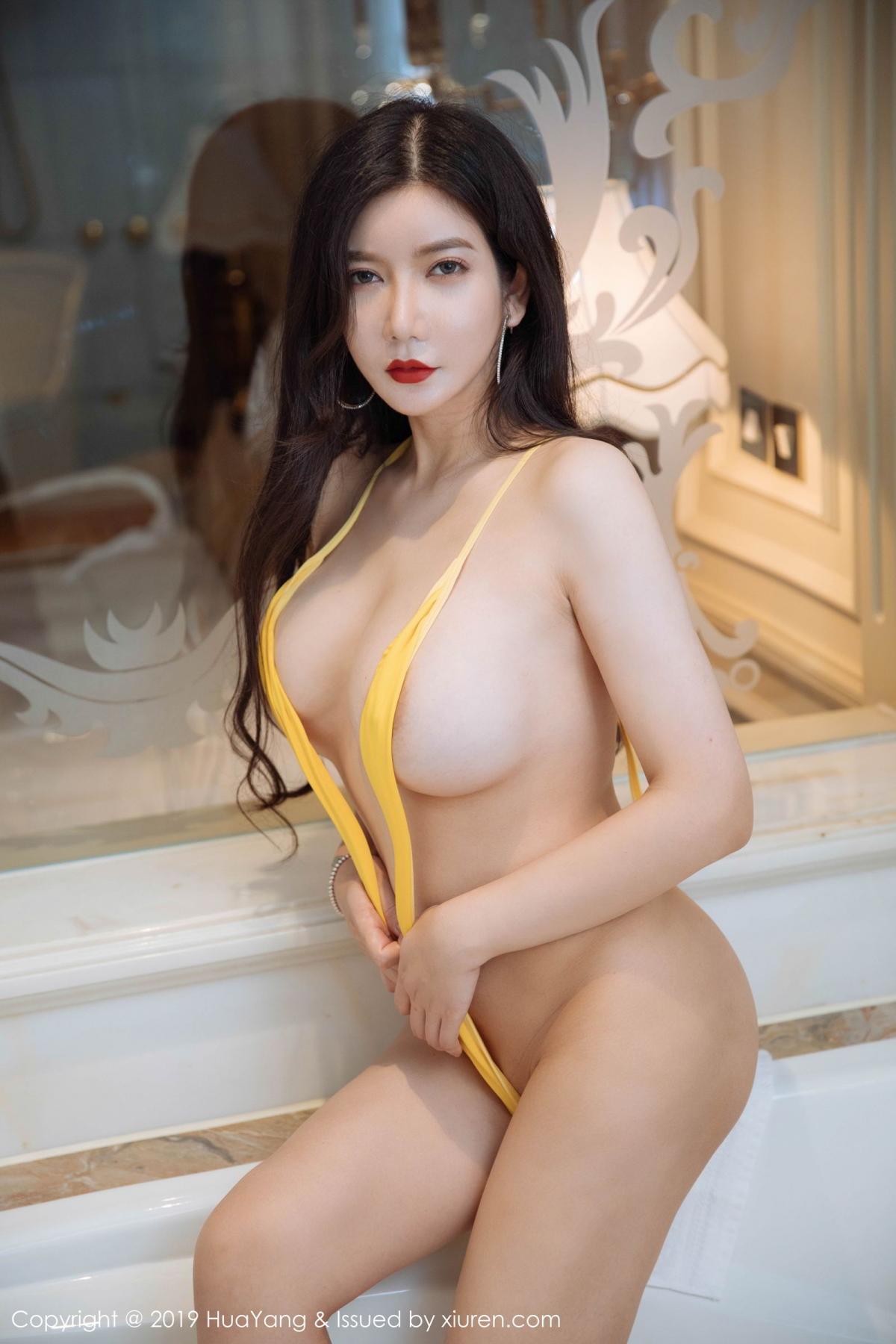 [Huayang] Vol.136 Li Yan Xi 9P, Bikini, Black Silk, HuaYang, Li Yan Xi