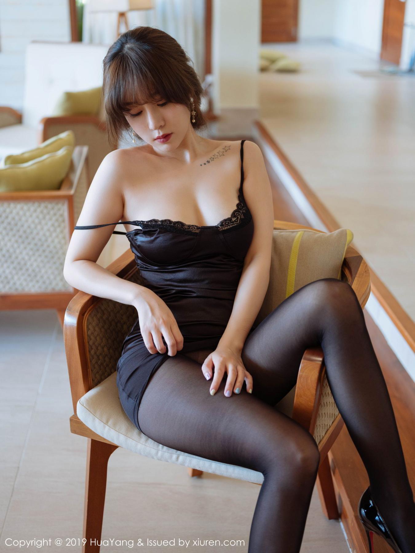 [Huayang] Vol.143 Wang Yu Chun 12P, Black Silk, HuaYang, Tall, Wang Yu Chun