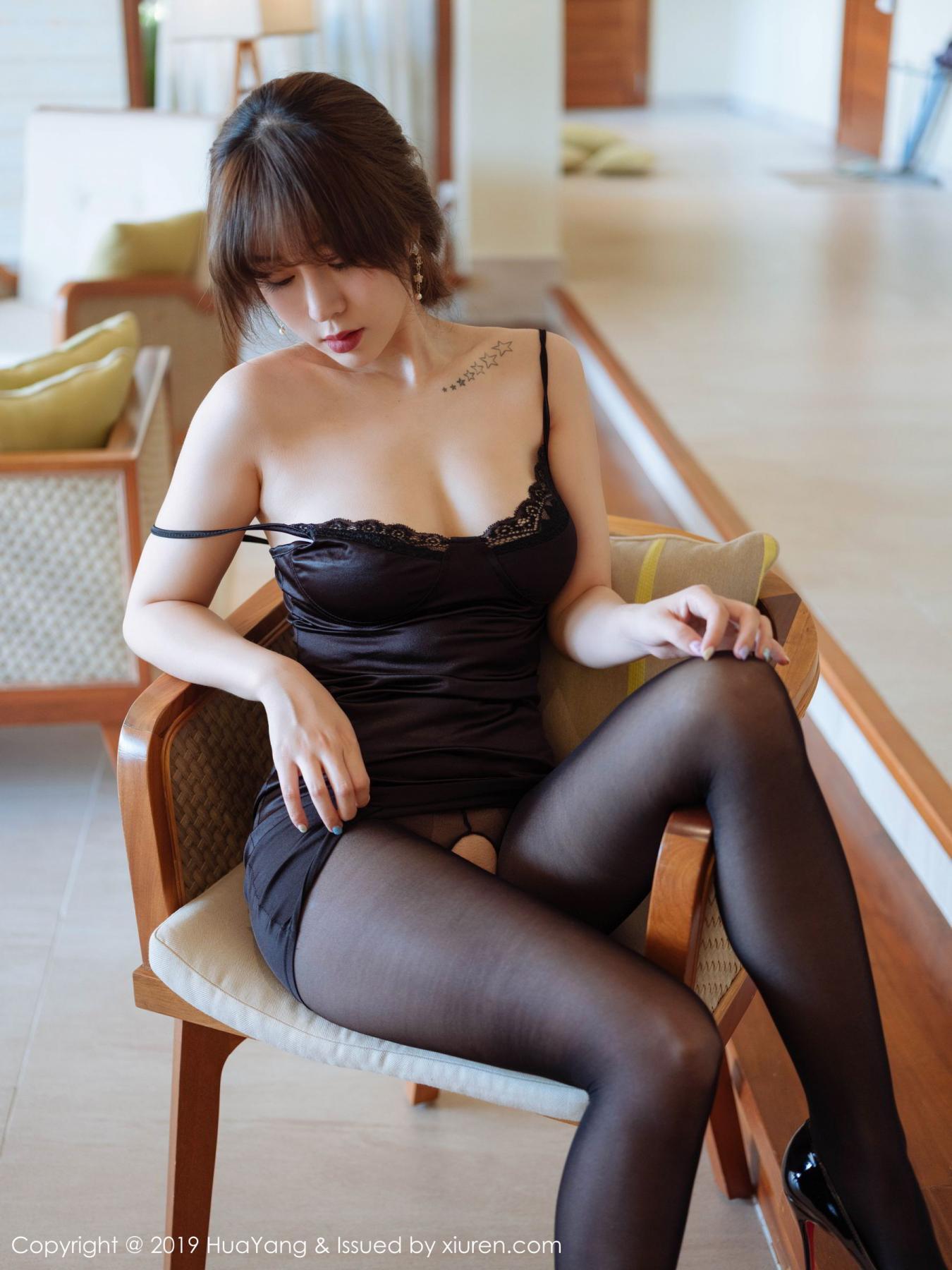 [Huayang] Vol.143 Wang Yu Chun 13P, Black Silk, HuaYang, Tall, Wang Yu Chun