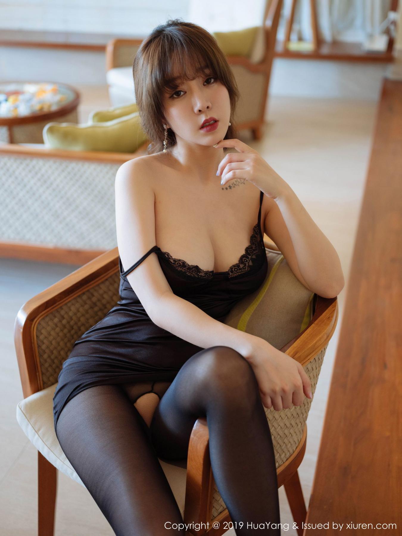 [Huayang] Vol.143 Wang Yu Chun 16P, Black Silk, HuaYang, Tall, Wang Yu Chun