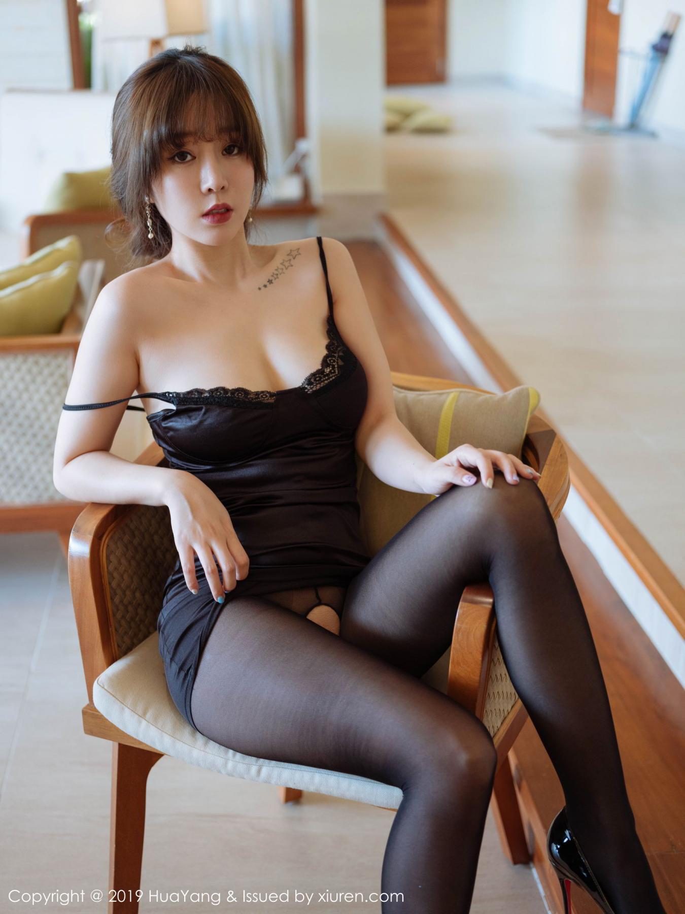 [Huayang] Vol.143 Wang Yu Chun 1P, Black Silk, HuaYang, Tall, Wang Yu Chun