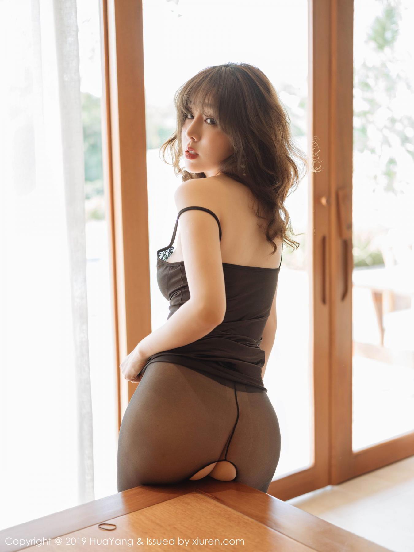 [Huayang] Vol.143 Wang Yu Chun 40P, Black Silk, HuaYang, Tall, Wang Yu Chun