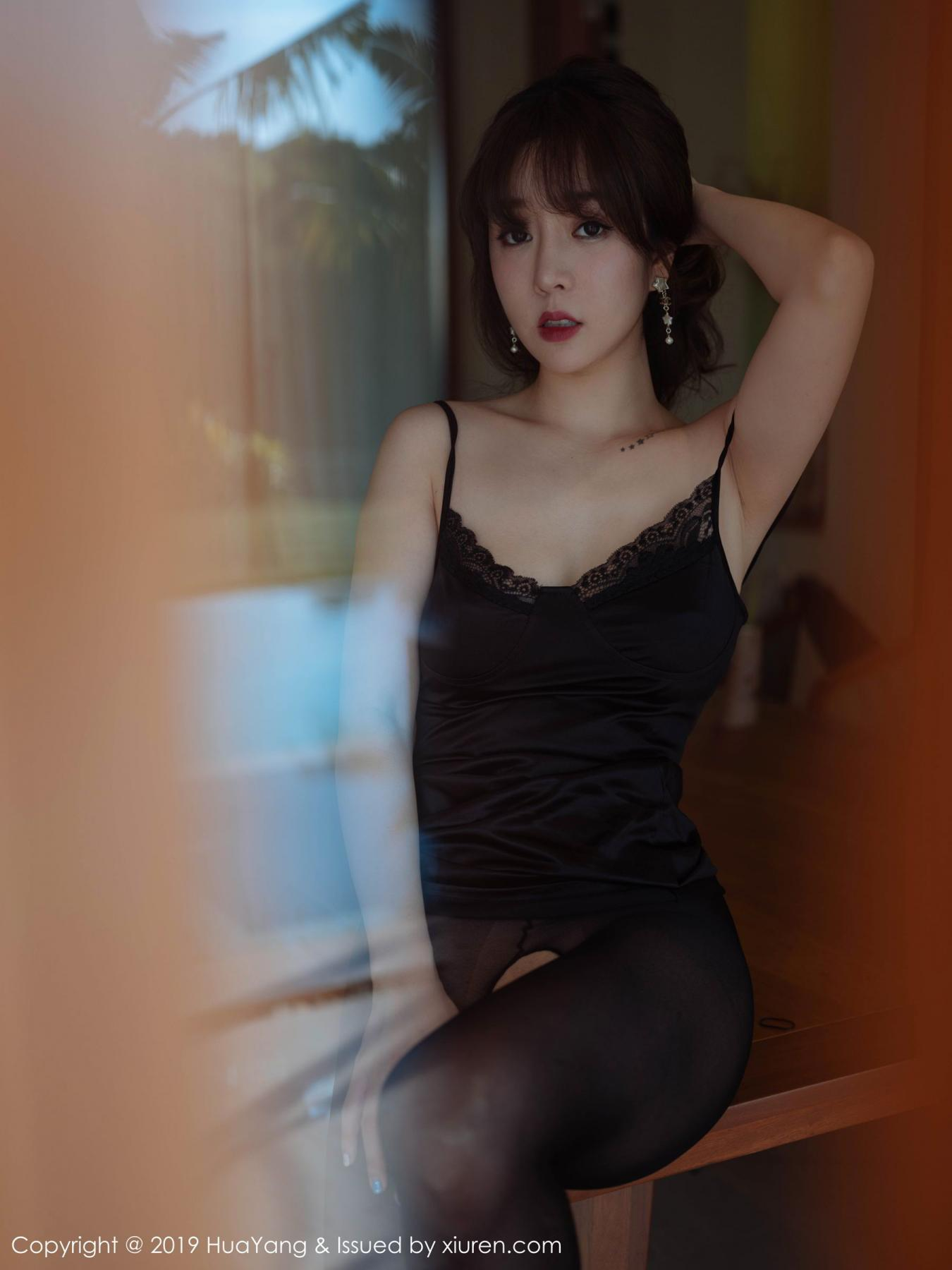 [Huayang] Vol.143 Wang Yu Chun 45P, Black Silk, HuaYang, Tall, Wang Yu Chun