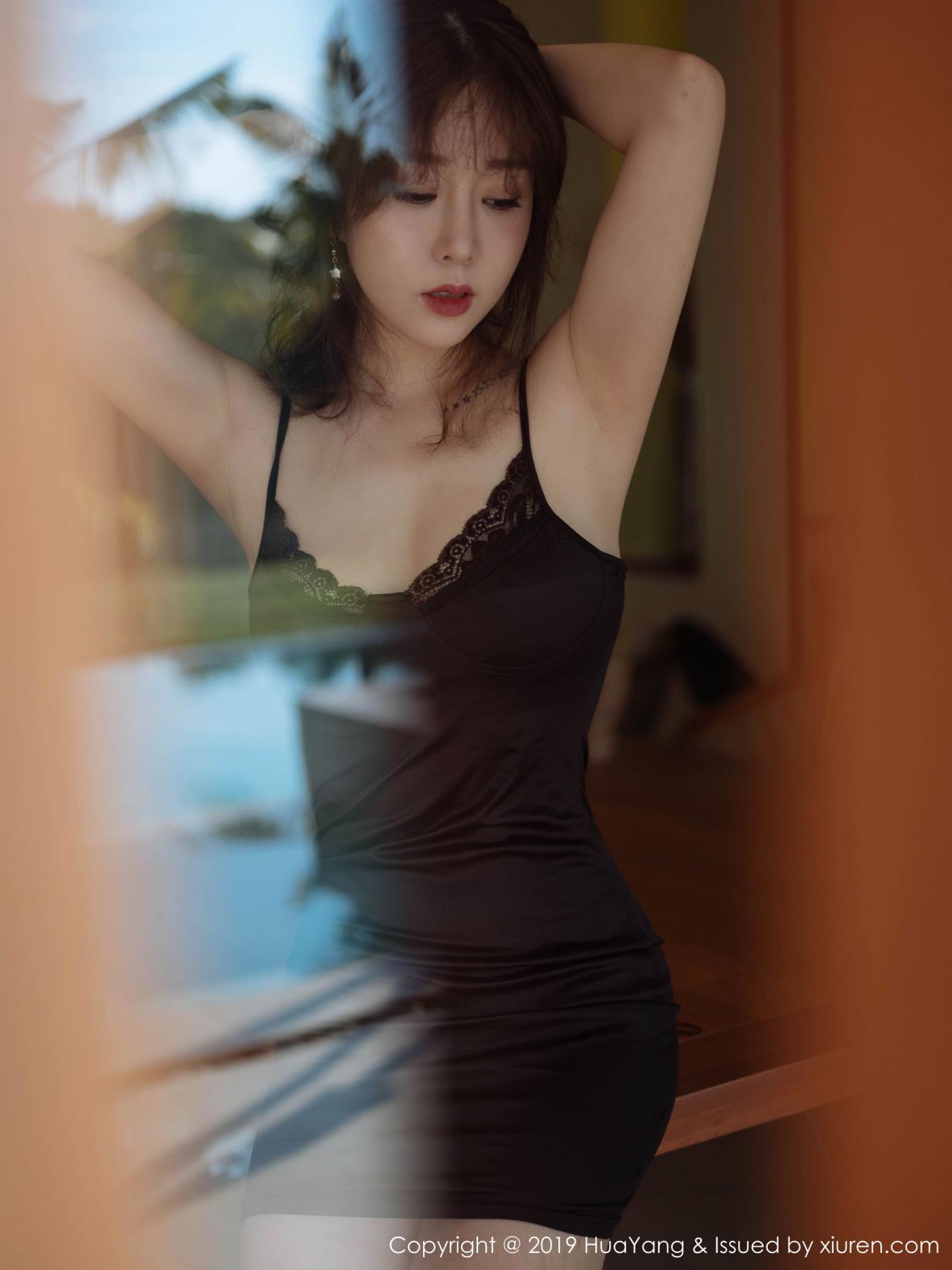 [Huayang] Vol.143 Wang Yu Chun 48P, Black Silk, HuaYang, Tall, Wang Yu Chun