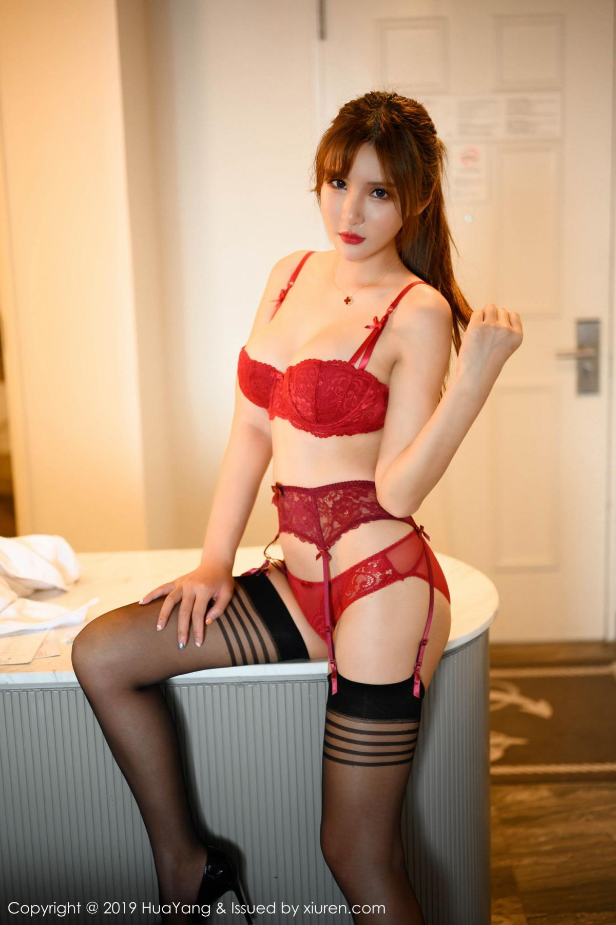 [Huayang] Vol.148 Solo Yi Fei 27P, Black Silk, HuaYang, Solo Yi Fei, Tall, Underwear
