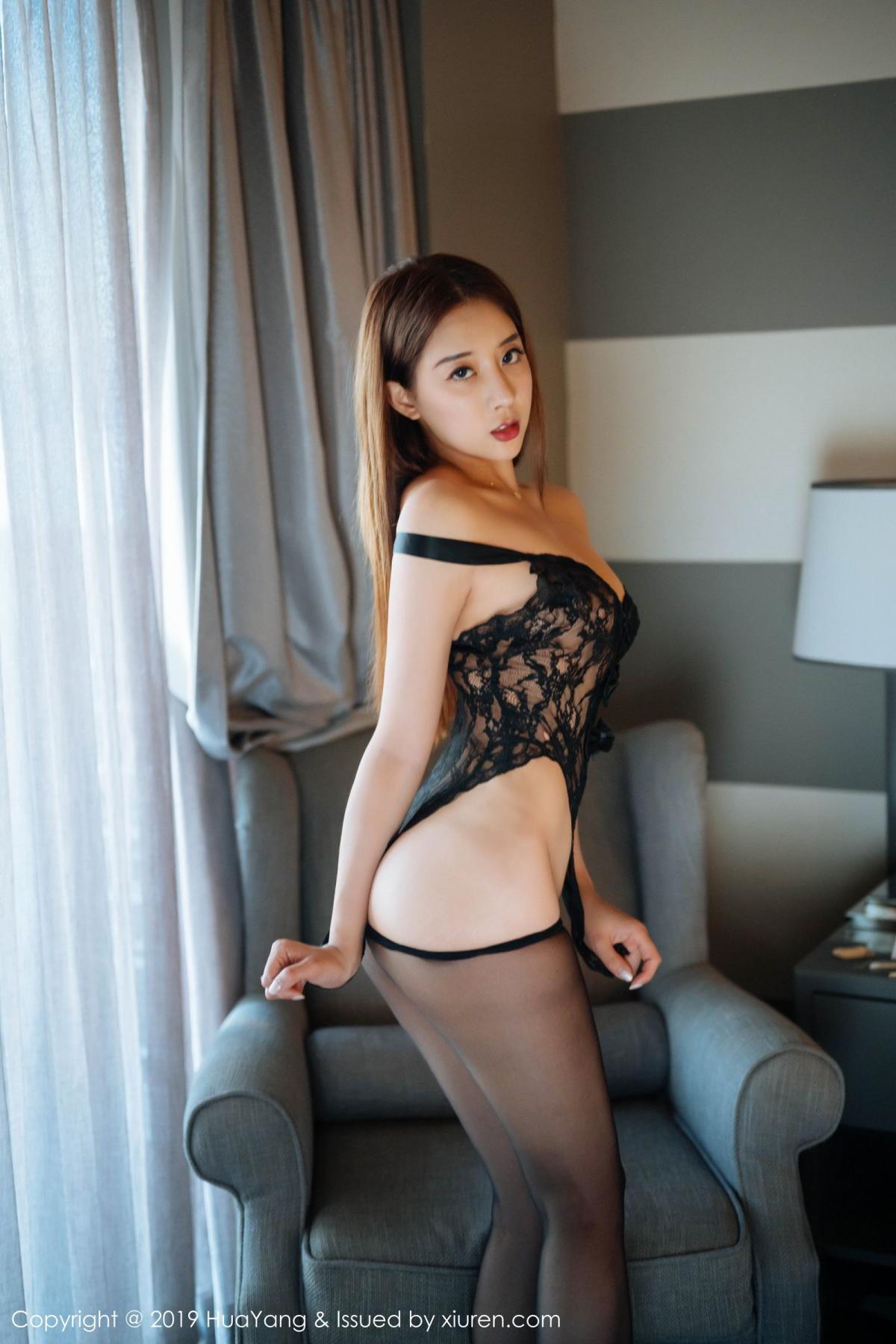 [Huayang] Vol.154 Duan Xiao Hui 24P, Black Silk, Duan Xiao Hui, HuaYang, Tall
