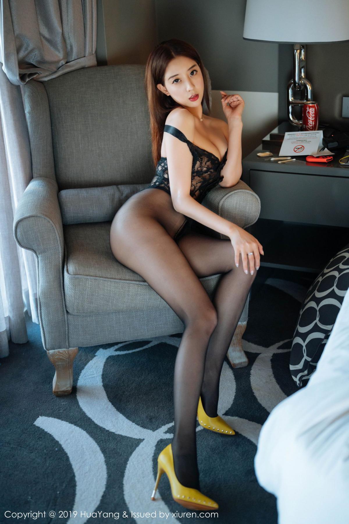 [Huayang] Vol.154 Duan Xiao Hui 2P, Black Silk, Duan Xiao Hui, HuaYang, Tall