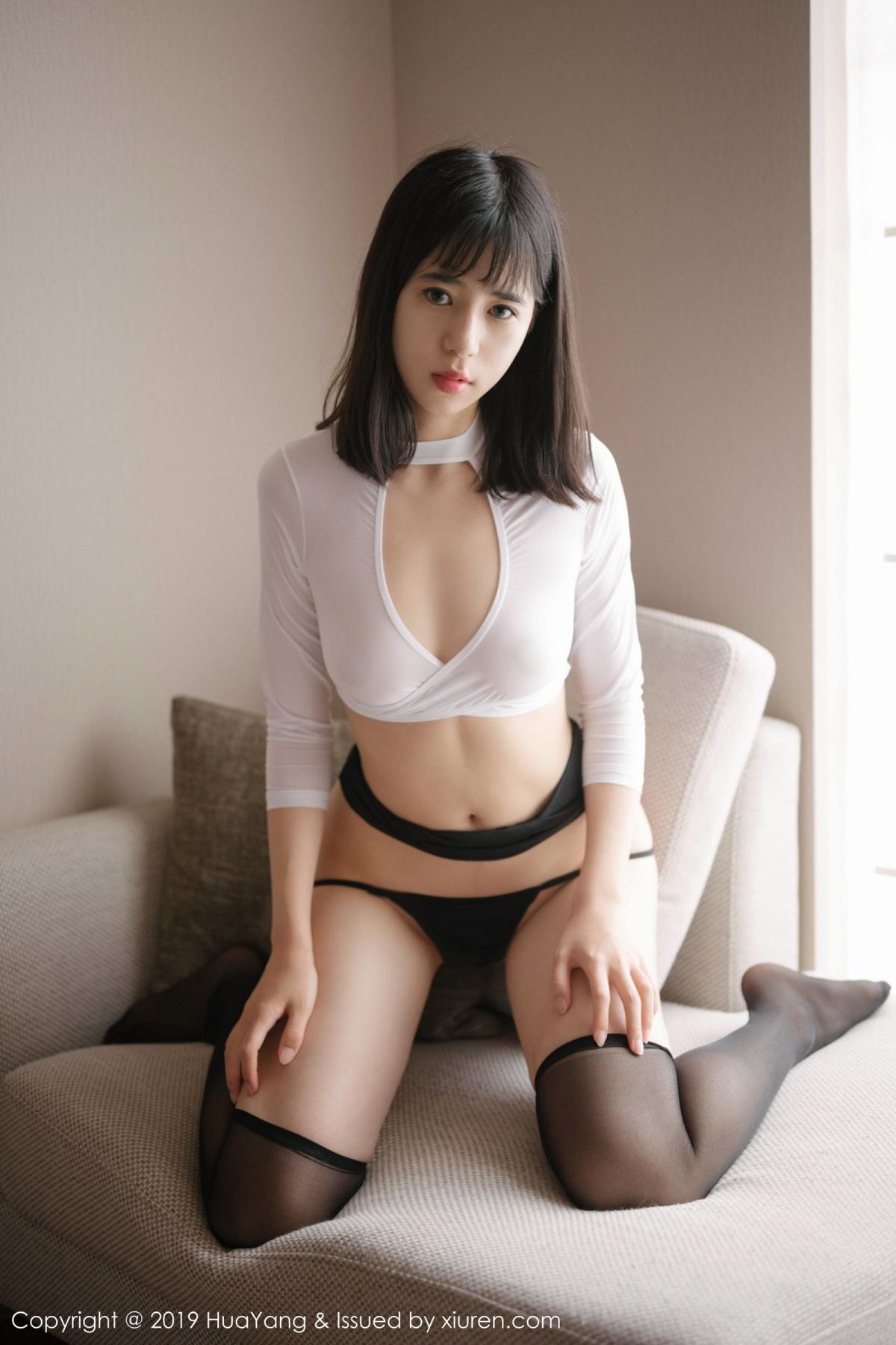 [Huayang] Vol.164 Ai Li Li 22P, Ai Li Li, Black Silk, HuaYang, Underwear