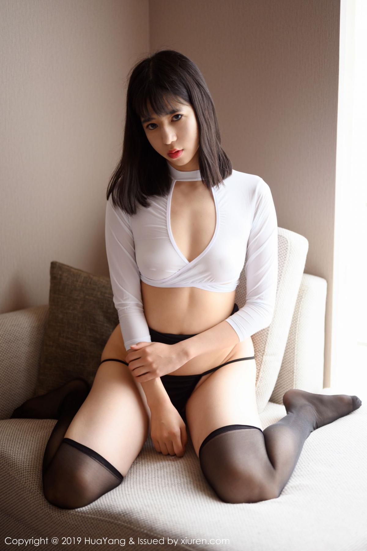 [Huayang] Vol.164 Ai Li Li 23P, Ai Li Li, Black Silk, HuaYang, Underwear